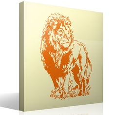 Wall Stickers Lion Wall Stickers Animals, Decorative Stickers, Quilling, Mural Painting, Murals, Paintings, Light Orange, National Flag, Wall Stickers