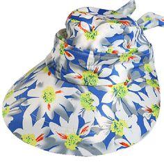 d031e3d0672 Women Ladies Summer Outdoor Anti-UV Beach Sunscreen Sun Hat Flower Print  Wide Brim Caps. Cherry cherry