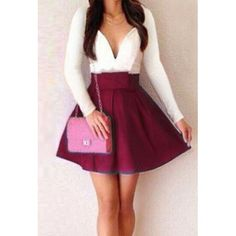 Fashionable Women s Plunging Neckline Color Block Long Sleeve Dress wine red (Fashionable Women s Plunging Neckline Color Block Long) by http://www.irockbags.com/fashionable-womens-plunging-neckline-color-block-long-sleeve-dress-wine-red