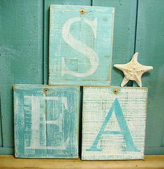 Letter Sign Beach House Lake House Alphabet Monogram Weathered Wood Wall Decor   One Letter