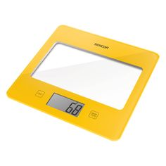 Sencor Kitchen Scale SKS 5011YL - Ultra slim design (height only 16 mm) - Large LCD display (55 x 25 mm) - Successive weighing function