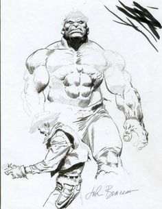 browsethestacks:comicbookartwork:  The Hulk by John Buscema    Art by John Buscema