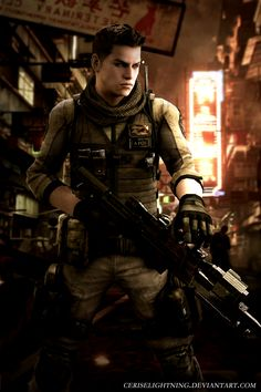 Piers Nivans China by ceriselightning on DeviantArt Resident Evil Anime, Leon S Kennedy, Horror Video Games, Live Action Film, The Evil Within, Wattpad, Cute Anime Pics, Video Game Characters, China