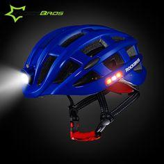 ROCKBROS Mtb Light Bicycle Kask Protone Helmet Motocross Bike Helmet Outdoor Capacetes Ciclismo Unisex Mtb Night Cycling Helmet