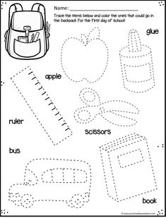 FREE Back to School Worksheets