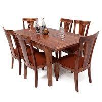 2a57eebbf Buy Franco Extendable 6 Seater Dining Set (Orange, Teak Finish) Online in  India - Wooden Street