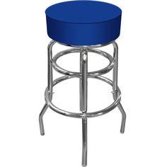 Trademark Commerce 1000-BLUE High Grade Blue Padded Bar Stool