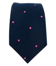 The Tie Bar Wool Dots - Navy/Pink ($15.00)