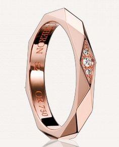 Boucheron Sublime Facettes wedding band - rose gold
