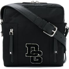 Dolce & Gabbana medium brand patch messenger bag (28,340 THB) ❤ liked on Polyvore featuring men's fashion, men's bags, men's messenger bags and black