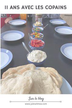 anniversaire copains, 11 ans, activité enfant anniversaire, pizza party, pizza sucrée, animation, fête, pré-ado Pizza Party, Blogging, Muffin, Animation, Breakfast, Cooking Recipes, Birthday, Morning Coffee, Muffins