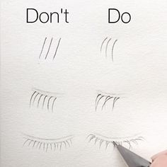 "11k Likes, 52 Comments - Silvie Mahdal (@silviemahdal_art) on Instagram: ""Basic tips for realistic drawing of LOWER eyelashes: ✔️ all the lashes look generally more like…"""