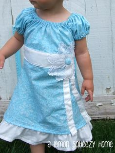 Blue Doily Dress Tutorial