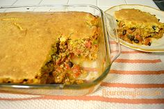 My take on Ingrid Hoffmann's Chipotle Tamale Pie #cokewithmeals #spon