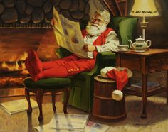 Tom Browning. Love this one of Santa relaxing <3