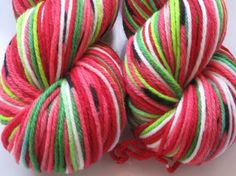Self striping water melon yarn!