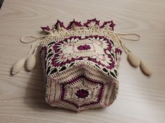 Beaded Reticule (drawstring bag) by Dawn Holbrook