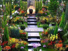 Italian style landscape garden