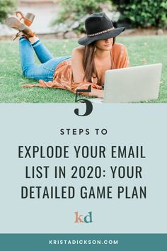 Your Ultimate 5-Step List-Building Game Plan for 2020 | Krista Dickson Email List, Check Email, Using Facebook For Business, Online Marketing, Email Marketing Strategy, Building Games, Your Email, Make Money Blogging, Social Media Tips