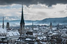 Zürich in Winter III, Switzerland, photo by Dieu Van