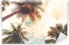Fototapet Tappning tropisk strand i sommar • Pixers® - Vi lever för  förändring 585f4a63e3d63