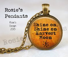 Shine on Harvest Moon  Orange Moon   Fall Trends by RosiesPendants