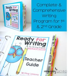 AMAZING writing program for 1st and 2nd grade. Expository, Narrative and Opinion genre writing lessons made simple and EFFECTIVE! I LOVE teaching writing with this!