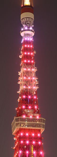 Red diamonds - Tokyo Tower, Japan 東京タワー