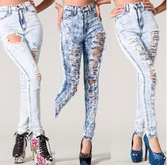 great ripped high waist jeans