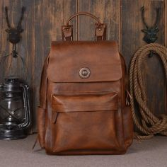 HANDCRAFTED GENUINE LEATHER BACKPACK, TRAVEL BACKPACK, LAPTOP BAG, SCHOOL BACKPACK 9031