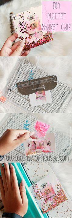 Glam Perfume Planner Shaker Card Tutorial DIY Shaker Card for your planner! Full tutorial on DIY Shaker Card for your planner! Full tutorial on To Do Planner, Free Planner, Printable Planner, Happy Planner, Planner Stickers, Planner Diy, Kawaii Planner, My Planner Colibri, Planner Supplies