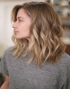 Haircut ideas for shoulder length hair blonde balayage mid length, balayage hair blonde medium, Summer Hairstyles, Bob Hairstyles, Bob Haircuts, Medium Wavy Hairstyles, Layered Hairstyles, Latest Hairstyles, Mid Length Haircuts, Medium Haircuts For Women, Medium Hair Cuts