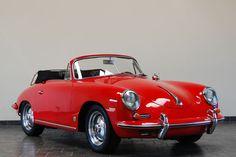 1960 Porsche 356B Cabriolet - Signal Red - Super90  Porsche is my love language ;)