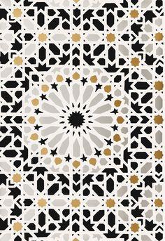 Wallcovering / Wallpaper | Nasrid Palace Mosaic in Mica | Schumacher