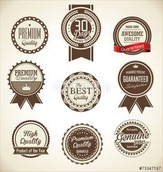 Vector: Quality Retro vintage badge collection