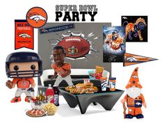 """The party's in full swing - Super Bowl Party/Denver Broncos"" by susonwil83 ❤ liked on Polyvore featuring art"