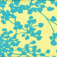 Amy Butler Belle Coriander in Blue 1 yard by skyerevefabrics, $9.75
