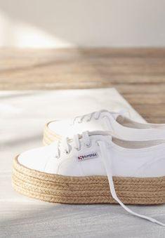 scarpe sportive superga con zeppa bianche