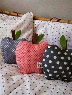 almohadas de frutas molde para hacer manzanas