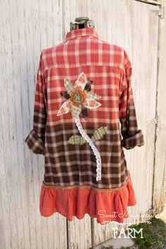 Farm Girl Fancies Upcycled Flannel Shirt/Jackets by: Sweet Magnolias Farm  Just listed in our Etsy Shop