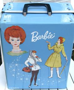 Retro 1963 Blue Barbie Trunk Made by Mattel Inc by TwillaGirl, $48.00