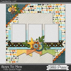 FREE Boys to Men Quick Page Freebie By Lori C. from Connie Prince