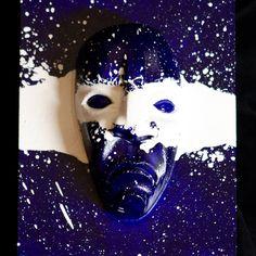 Ghost Face Warrior, Eastern Band of Cherokee Indians,  JoshuaAdamsArt.com