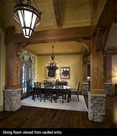 Look familiar... This is the house that inspired ours!  Plan W15651GE: Corner Lot, Luxury, Mountain, Photo Gallery, Craftsman, Vacation, Premium Collection House Plans & Home Designs