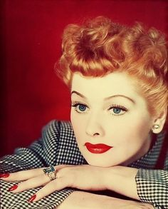 Damn! Lucille Ball can pull off that red lipstick!