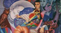 Mural: Sor Juana, Creación y Creenza.