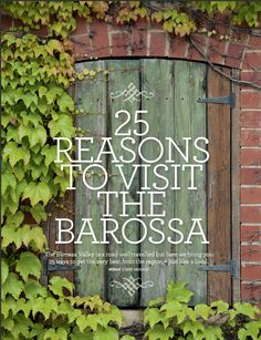 25 reasons to visit the Barossa |EDE ONLINE