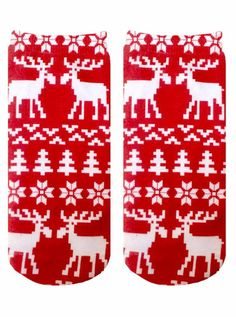 The Awkward Red Moose ankle socks Funky Socks, Cute Socks, Ugly Sweater, Sweaters, Holiday Socks, Birthday List, Ankle Socks, Christmas Birthday, Hosiery