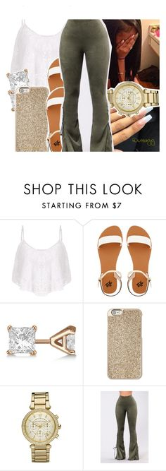 """""""."""" by ceedyy ❤ liked on Polyvore featuring 2b bebe, Allurez, Michael Kors and GET LOST"""