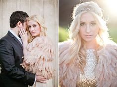What a #feathery delight http://glitterinc.com/wp-content/uploads/2012/12/feathers-sequins-engagement-shoot.png